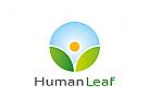 Zeichen, Signet, Logo, Natur, Blatt, Garten, Sonne, Mensch