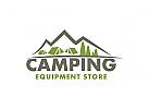 Camping Logo, Berg Logo