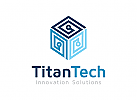 Würfel Logo, Technologie Logo, Industrie Logo