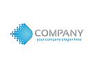 Daten Logo, Technologie Logo, Kommunikation Logo