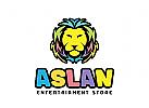 Unterhaltung Logo, Löwe Logo