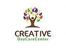 Baum Logo, Menschen Logo, Kindertagesstätte Logo