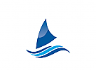 Logo Segelboot, segeln, Segelyacht, Segelsport, Segler, Schiff