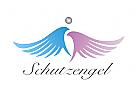 Logo, Flügel, Engel, Vogel, Schutz, Sicherheit