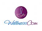 Logo, Wellness, Sport, Yoga, Schleife, Eternity, Mensch, Arztpraxis