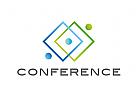 Logo, Abstrakt, Eckig, Konferenz, Synergie, Geld, Finanzen, Steuerberater, Rechtsanwalt