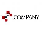 Rechtecke, Digital, Technologie Logo