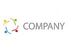 Team, Vier Personen, Menschen Logo