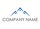 Immobilien, Dächer, Dachdecker Logo