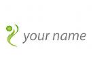 Ökomedizin, Zeichen, Zeichnung, Person, Bewegung, Sport, Fitness Logo