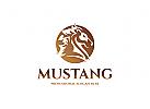 Pferd Logo, Hengst Logo, Pferdefarm Logo