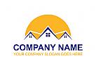 Haus Logo, Immobilien Logo