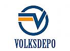 Bank Logo mit V Buchstabe