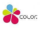 Bunte Tropfen, Color Blätter, bunte Blume