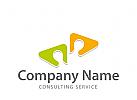 Logo zwei Köpfe, Consulting, Coaching, Sprache, Bildung