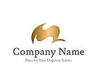 Logo abstrakt M, Initial als Markenzeichen