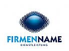 Logo rund mit Netz, Markenzeichen, Dienstleistung