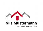 Logo Hausdächer, Dachdecker