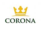 Krone Logo, Gold Logo, König Logo