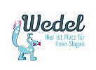 Logo mit Hund für Hundetrainer, Dogsitter, Dog Accessoires, Zubehör für Hunde, Hundefutter