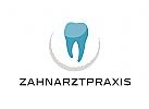 Zähne, Zahnärzte, Zahnarztpraxis, Zahnarzt, Zahn, Logo, Halbkreis