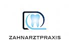 Zähne, Zahnärzte, Zahnarztpraxis, Zahnarzt, Zahn, Logo, Buchstabe D