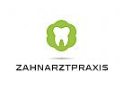 Zähne, Zahnärzte, Zahnarztpraxis, Zahnarzt, Zahn, Logo, Blüte