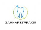 Zähne, Zahnärzte, Zahnarztpraxis, Zahnarzt, Zahn, Logo, Kreis, Kugeln