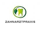 Zähne, Zahnärzte, Zahnarztpraxis, Zahnarzt, Zahn, Logo, Blatt, Ringe