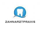 Zähne, Zahnärzte, Zahnarztpraxis, Zahnarzt, Zahn, Logo, Welle