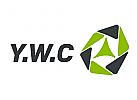 Abgerundetes Sechseckiges abstraktes Logo