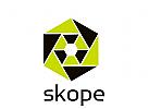 Kaleidoscope Sechseckiges abstraktes Logo