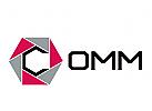 Sechseckiges abstraktes Buchstabe C - Logo