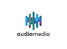 Ö Abstrakt, Hexagon, Audio, Equalizer, Sechskant, Audio, Equalizer, Technik, Ton bunt Logo