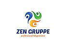 Ö Drei Menschen, Consulting, Coaching, Service, Gruppe bunt Logo