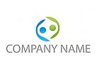 Zwei Personen, Team, Logo