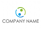 Zwei Personen, Team, Coaching, Consulting, Menschen, Logo