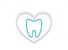 Logo Zahn, Herz, Zahnarzt. Dentallabor