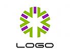 Abstrakte Schneeflocke Logo