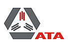 Abstrakte Triangle und Hexagon Logo