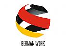 Weltkugel Deutschland German Logo