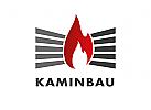 Zeichen, Signet, Logo, Flamme, Feuer, Kamin