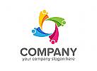 Gruppen Logo, Menschen Logo, Stern Logo, Soziale Logo