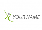 Zeichen, X, Person in Bewegung, Mensch, Logo