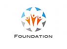 Zeichen, Signet, Logo, Gruppe, Menschen, Foundation
