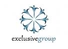 Zeichen, Signet, Logo, Gruppe, Exlusiv, Ornament, Blume