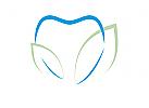 Zähne, Zahnärzte, Zahnarztpraxis, Zahnarzt, Zahn, Logo, Blatt