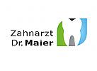 Zähne, Zahnärzte, Zahnarztpraxis, Zahnarzt, Zahn, Logo, Vektor