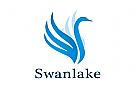 Zeichen, Signet, Logo, Vogel, Schwan, Swan