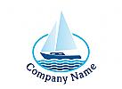 Logo Schiff, Boot, Yacht, Marine, Bootsverleih